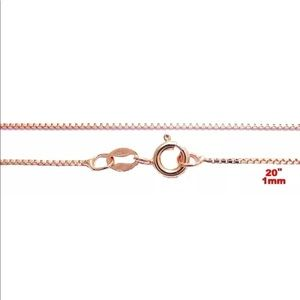 Jewelry - 14k Rose gold over .925 pendant chain  20 ""